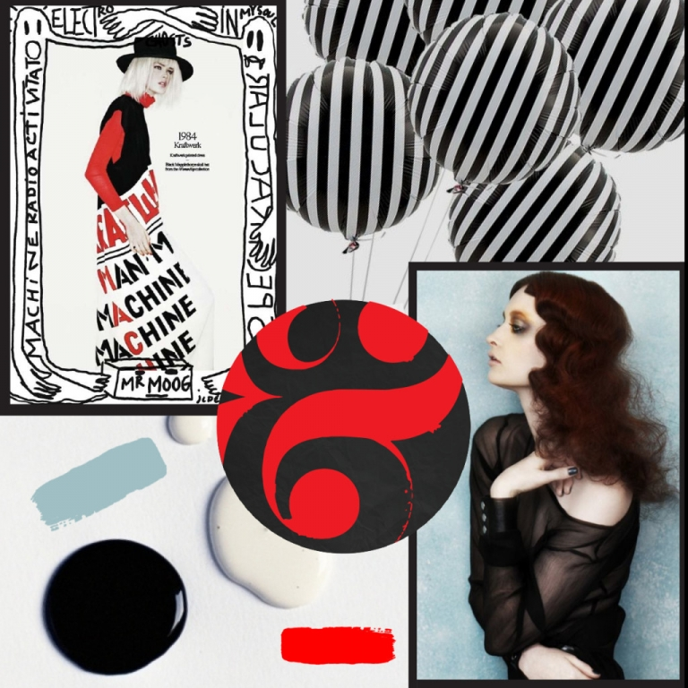 Mood Board Monday: Bold Red, Black, and White Color Palette - The ...